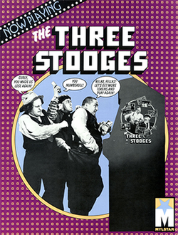 Arcade flyer of The Three Stooges.