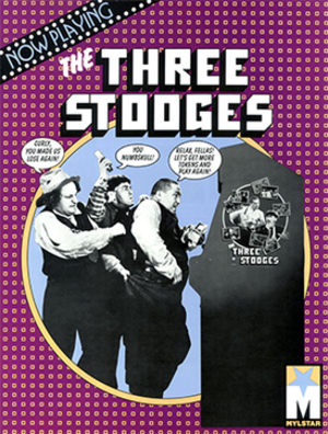 The Three Stooges (arcade game) - Arcade flyer of The Three Stooges.