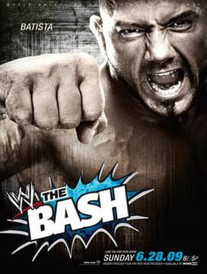 WWE The Bash - Promotion poster featuring Batista