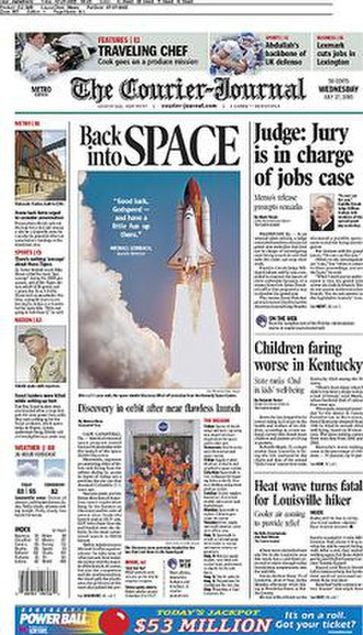The Courier-Journal - Image: The Courier Journal front page