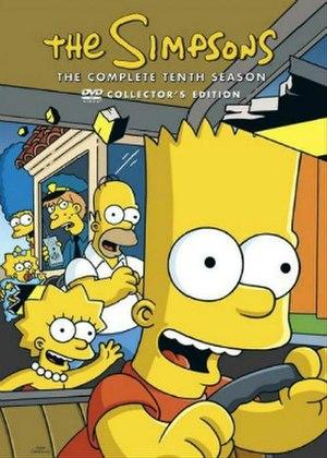 The Simpsons (season 10) - DVD cover