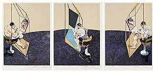 Three Studies of the Male Back - Franic Bacon, Three Studies of the Male Back, 1970