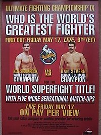 A poster or logo for UFC 9: Motor City Madness.