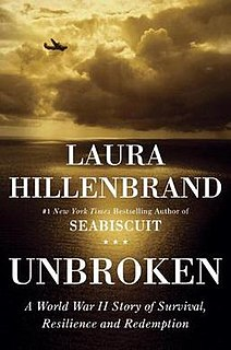 <i>Unbroken: A World War II Story of Survival, Resilience, and Redemption</i> Biography of Louis Zamperini by Laura Hillenbrand