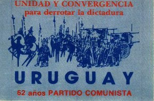 Communist Party of Uruguay - PCU 62nd anniversary sticker