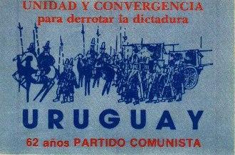 Communist Party of Uruguay - PCU 62nd anniversary sticker