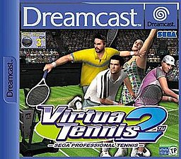 European Dreamcast cover of Virtua Tennis 2