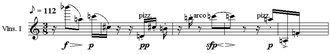 Melody - Image: Webern Variations melody