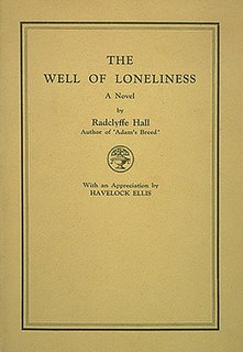 <i>The Well of Loneliness</i> novel by Radclyffe Hall