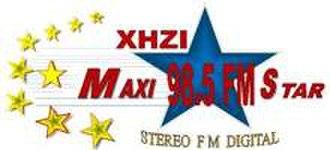 XHZI-FM - Logo as Maxistar used until 2017