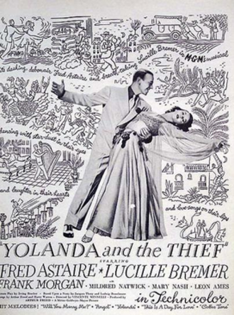 Yolanda and the Thief - Magazine advertisement for the film