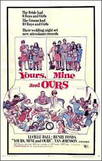 Yours, Mine and Ours (1968 film) - Film poster by Frank Frazetta