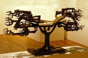Satoru Abe - Satoru Abe, East and West, welded copper and bronze, 1971, Hawaii State Art Museum