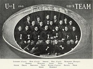 1910 Illinois Fighting Illini football team - Image: 1910 Illinois Fighting Illini football team