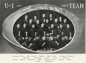 1910 Illinois Fighting Illini football team - Image: 1910 Illinois Fighting Illini football team