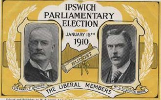 Ipswich (UK Parliament constituency) - Liberal Election Postcard