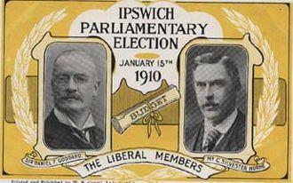Silvester Horne - January 1910 Liberal Election Postcard