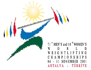 2001 World Weightlifting Championships - Image: 2001 World Weightlifting Championships logo