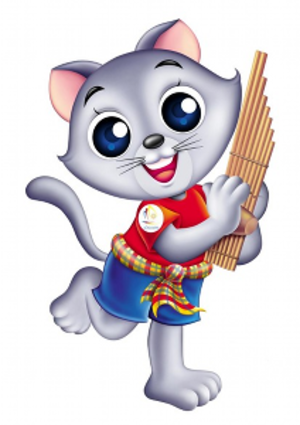 """2007 Southeast Asian Games - """"Can"""", Korat cat, the official mascot of the games"""