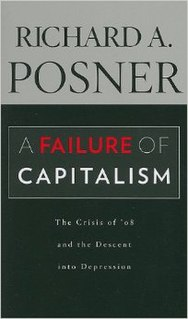 <i>A Failure of Capitalism</i> book by Richard Posner