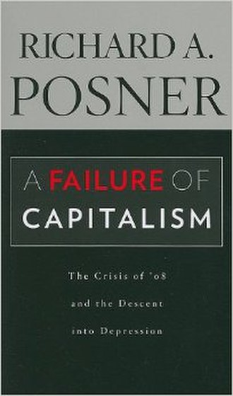 A Failure of Capitalism - Cover of the hardcover edition