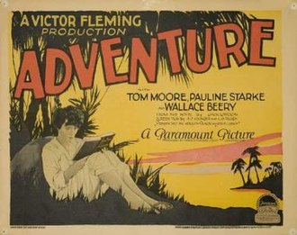 Adventure (1925 film) - Theatrical poster
