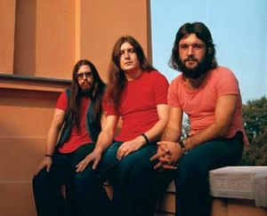 Pop Mašina - The 1972 - 1976 Pop Mašina lineup: Robert Nemeček, Zoran Božinović and Mihajlo Popović