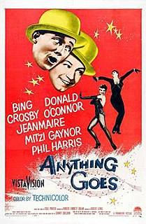 <i>Anything Goes</i> (1956 film) 1956 American musical film directed by Robert Lewis