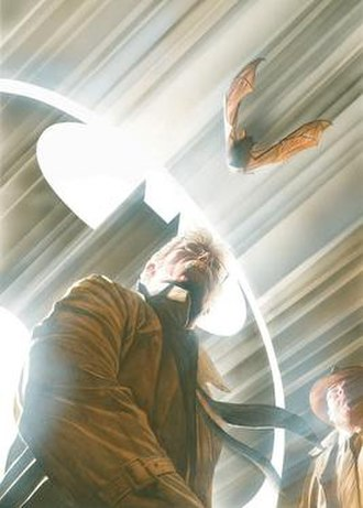 Bat-Signal - Commissioner Gordon with the Bat-Signal Art by Alex Ross