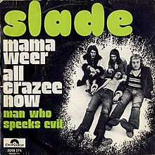 "Belgian cover of ""Mama Weer All Crazee Now""."