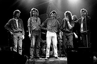 Popular music in the Socialist Federal Republic of Yugoslavia - The last Bijelo Dugme lineup, from left to right: Vlado Pravdić, Ipe Ivandić, Goran Bregović, Alen Islamović, Zoran Redžić and Laza Ristovski
