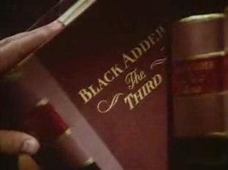 Blackadder the Third - Title screen of Blackadder the Third