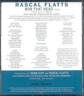 Bob That Head single by Rascal Flatts