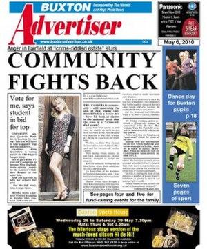 Buxton Advertiser - Image: Buxton advertiser cover