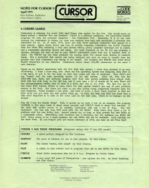 CURSOR - CURSOR № 9 (April 1979)