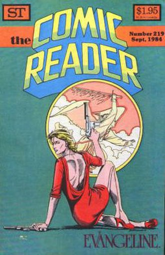 The Comic Reader - The cover of the final issue of The Comic Reader, featuring Evangeline.