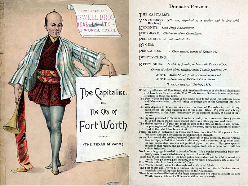 File:Cover and cast of characters from Ed J. Smith's The Capitalist, or, The City of Fort Worth. A Parody of The Mikado.jpg