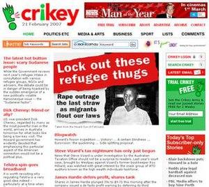 Crikey - Image: Crikeyscreenshot