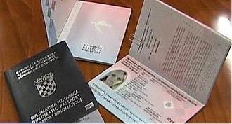 Croatian passport - Biometric Croatian passports