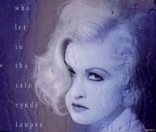 Who Let In the Rain 1993 single by Cyndi Lauper