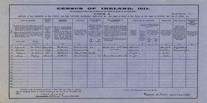 Census of Ireland, 1911 - Census of Ireland, 1911: Form A