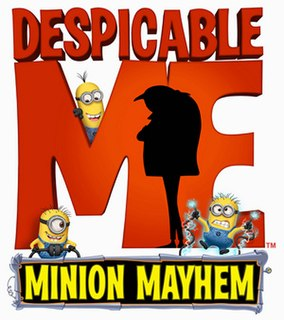 Despicable Me Minion Mayhem Attraction at Universal Studios theme parks