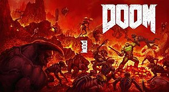 Doom (2016 video game) - Fan-favored reversible cover art elected as official in response to criticisms of the primary cover. The cover is similar to and inspired by the original game's cover art. It was used by the later Nintendo Switch port as the default box art.