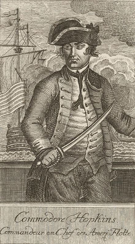 Commodore Esek Hopkins (French engraving)