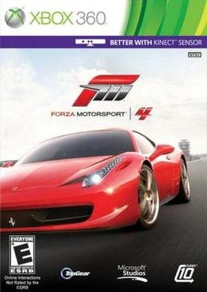 Forza Motorsport 4 - Cover art featuring a Ferrari 458