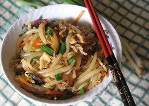 Silver needle noodles - Fried Lao Shu Fen / Fried Yin Zhen Fen / Fried Short Rice Noodles