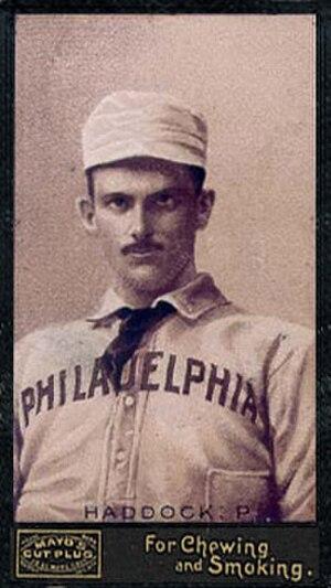 George Haddock (baseball) - Image: George Haddock (baseball)