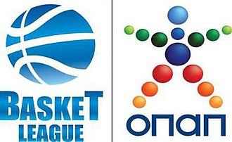 Basketball in Greece - Official Greek Basketball League name sponsor English version logo