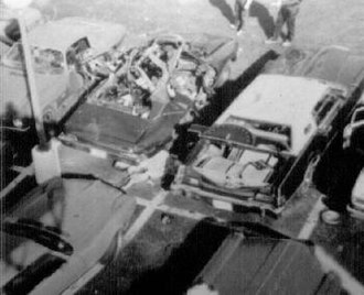 Danny Greene - Overhead shot of Danny Greene bombing murder scene (Greene's body is noticeable in the center)