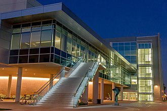 Western University of Health Sciences - The Health Education Center building on the Pomona campus, which houses the College Osteopathic of Medicine of the Pacific.